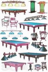 Бильярдные столы, кии, шары, сборка и перетяжка.